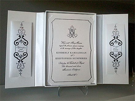 her wedding invitation