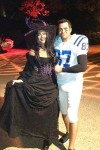 Jessica Alba & Her Husand as a Witch & Bassball Player