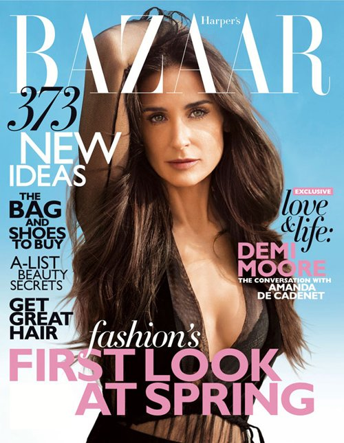 Demi Moore is missing an arm on Harper Bazaar US Feb.12 Cover thankx to photoshop