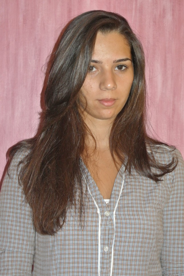 The model without makeup